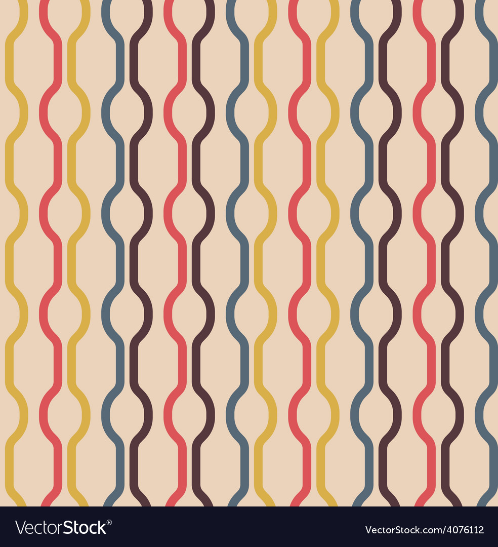 Seamless vintage colors pattern vector | Price: 1 Credit (USD $1)
