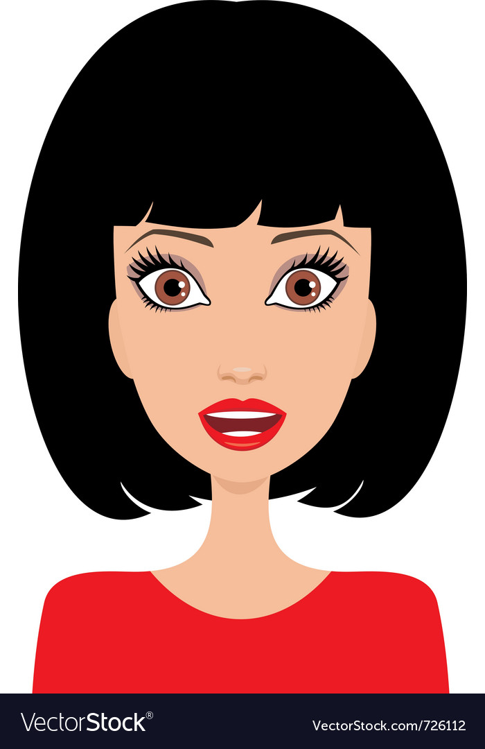 Surprised young woman vector | Price: 1 Credit (USD $1)