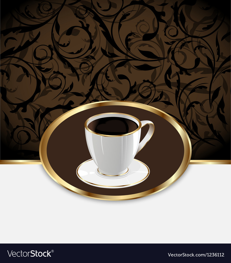 Vintage label for wrapping coffee coffee cup vector | Price: 1 Credit (USD $1)
