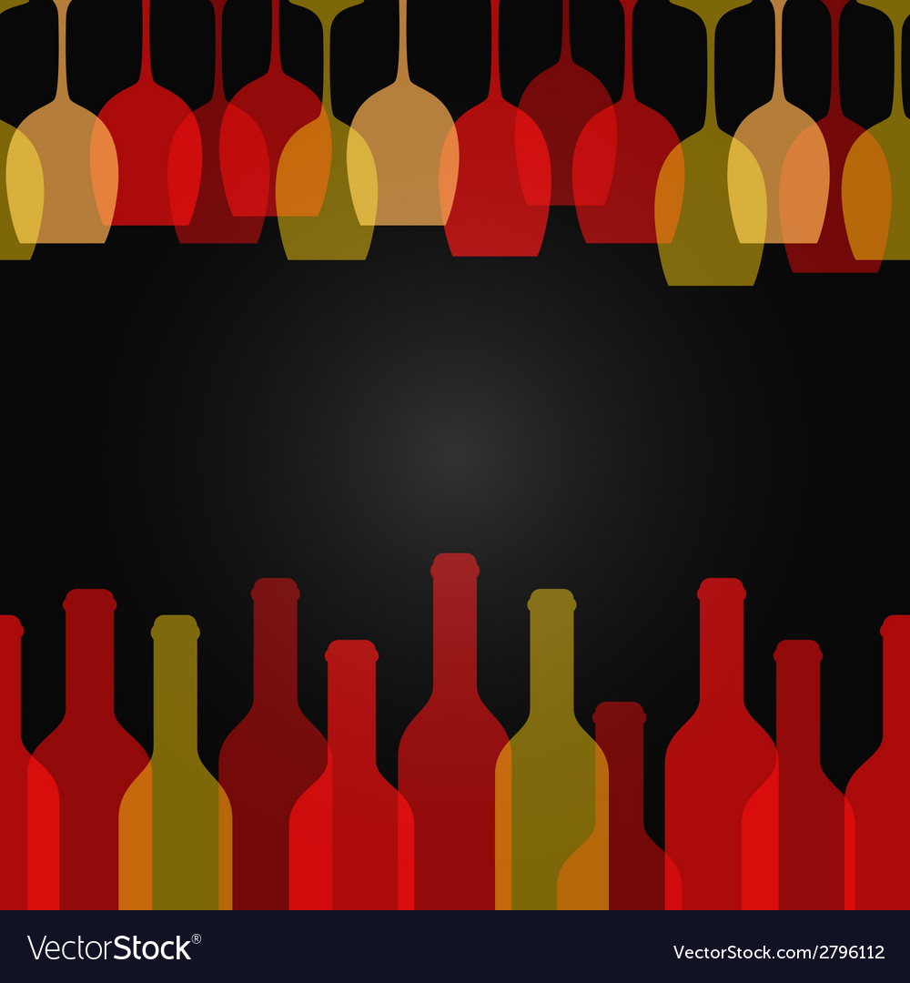 Wine glass bottle art design background vector | Price: 1 Credit (USD $1)
