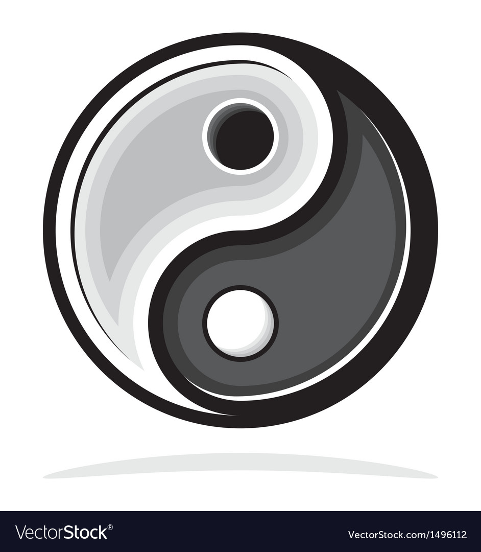 Ying yang symbol vector | Price: 1 Credit (USD $1)