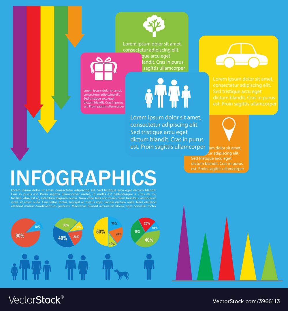 A colourful infochart vector | Price: 1 Credit (USD $1)