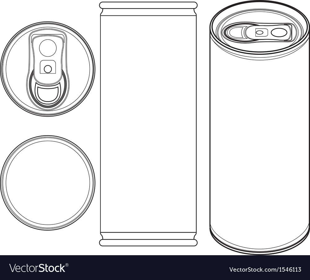Beverage can outline vector | Price: 1 Credit (USD $1)