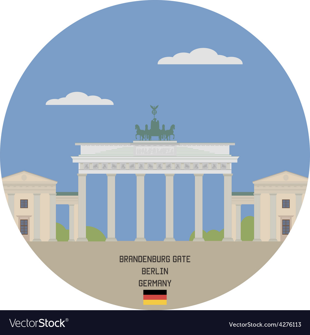 Brandenburg gate berlin vector | Price: 1 Credit (USD $1)