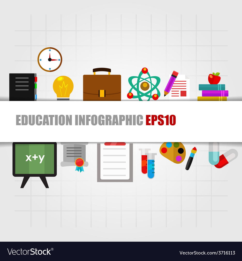 Education concept info graphic design vector | Price: 1 Credit (USD $1)