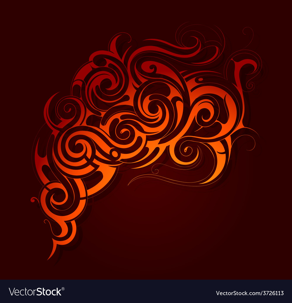 Fire flame abstraction vector | Price: 1 Credit (USD $1)