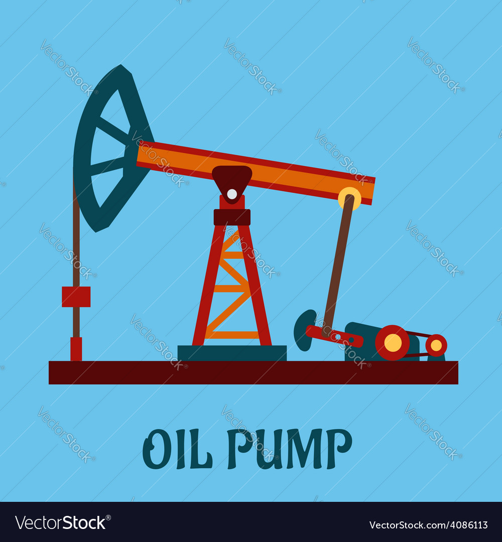 Isolated flat oil pump icon vector | Price: 1 Credit (USD $1)