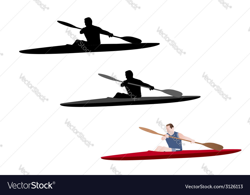 Kayaking vector | Price: 1 Credit (USD $1)
