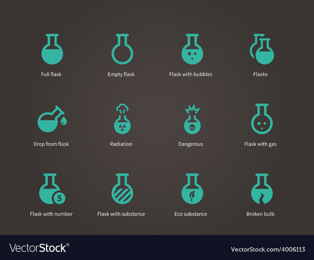 Laboratory equipment icons set vector | Price: 1 Credit (USD $1)