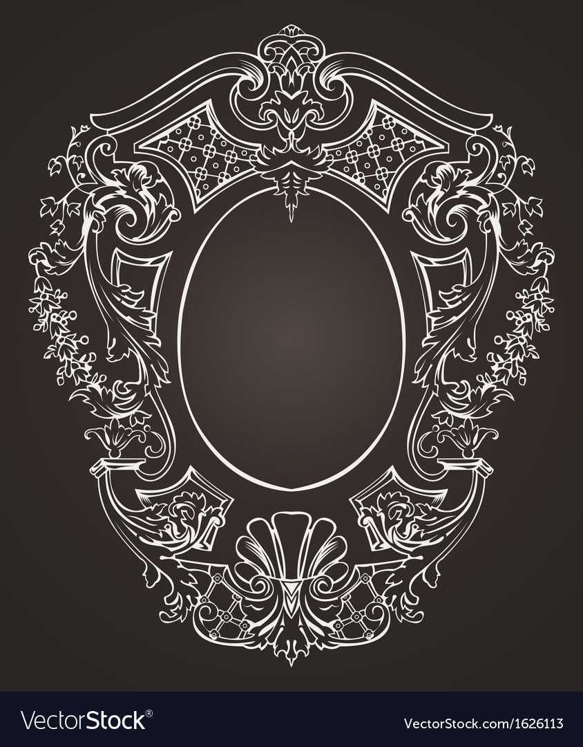 Ova ornate frame vector | Price: 1 Credit (USD $1)
