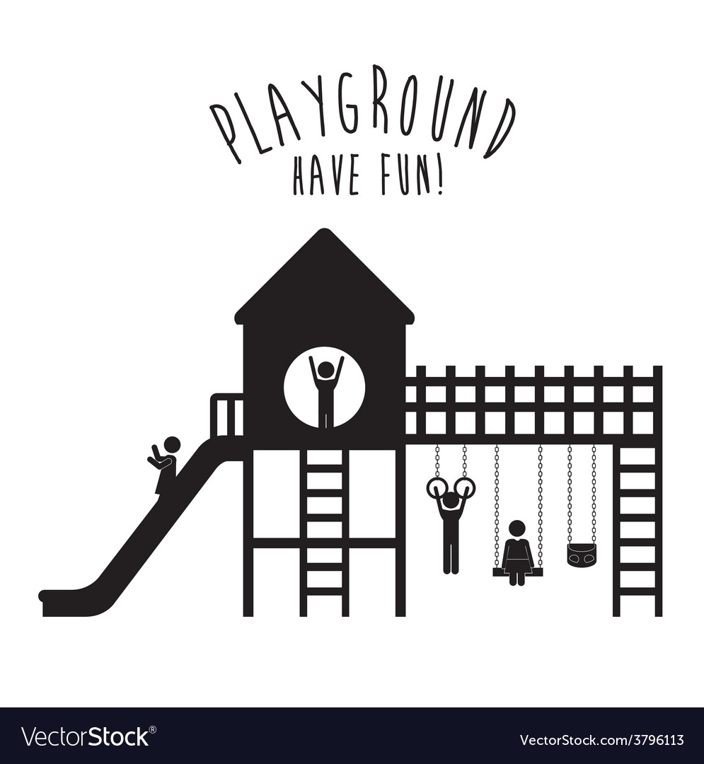 Playground design vector