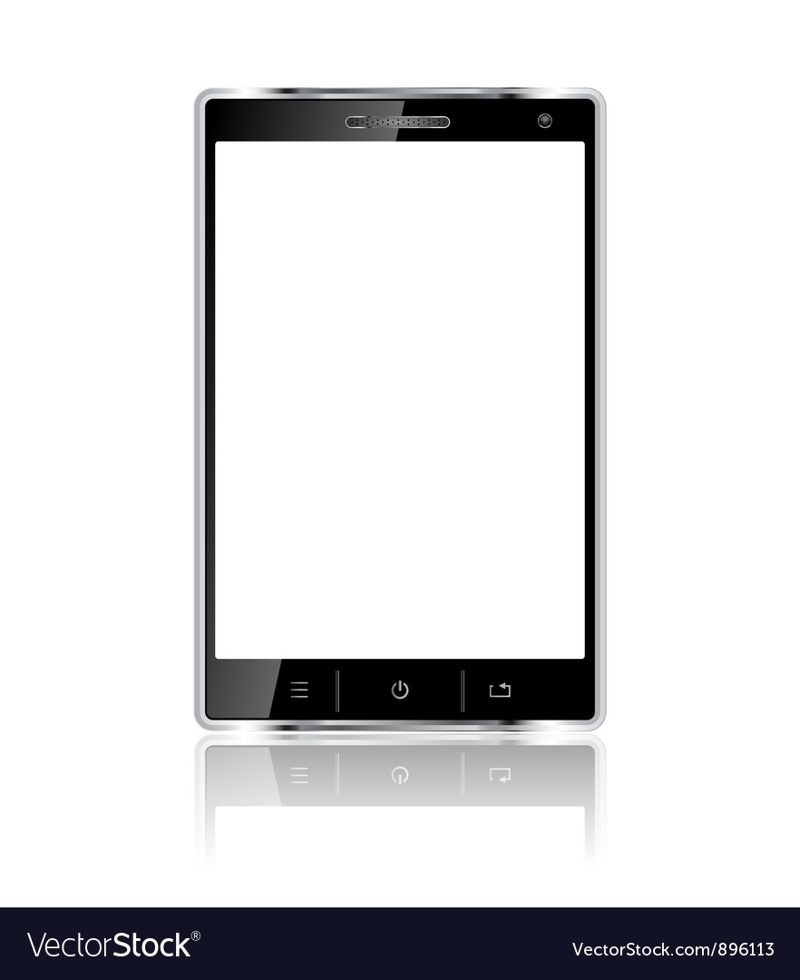 Realistic mobile phone with blank screen vector | Price: 1 Credit (USD $1)