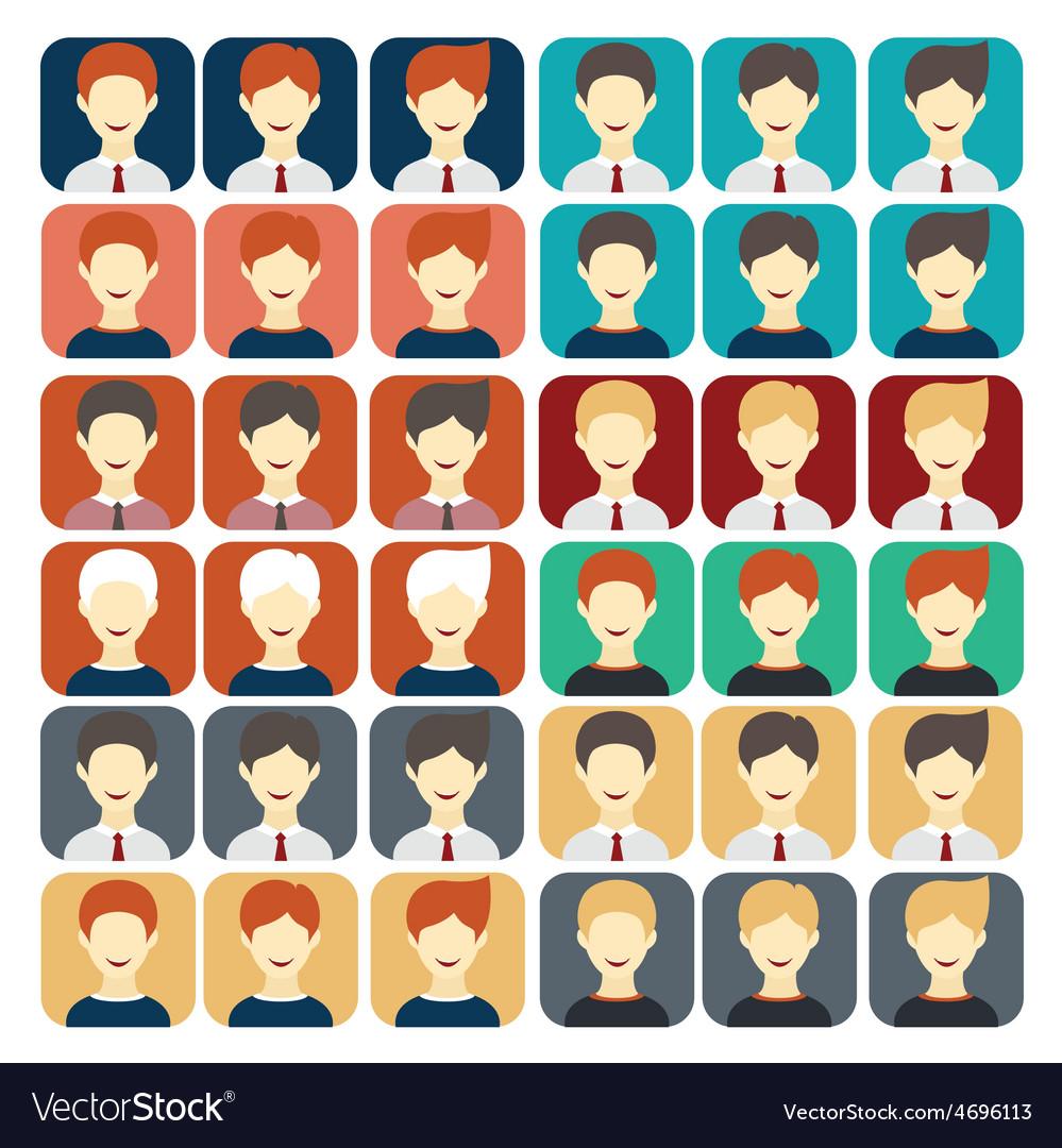 Set of flat design icons businessman vector | Price: 1 Credit (USD $1)