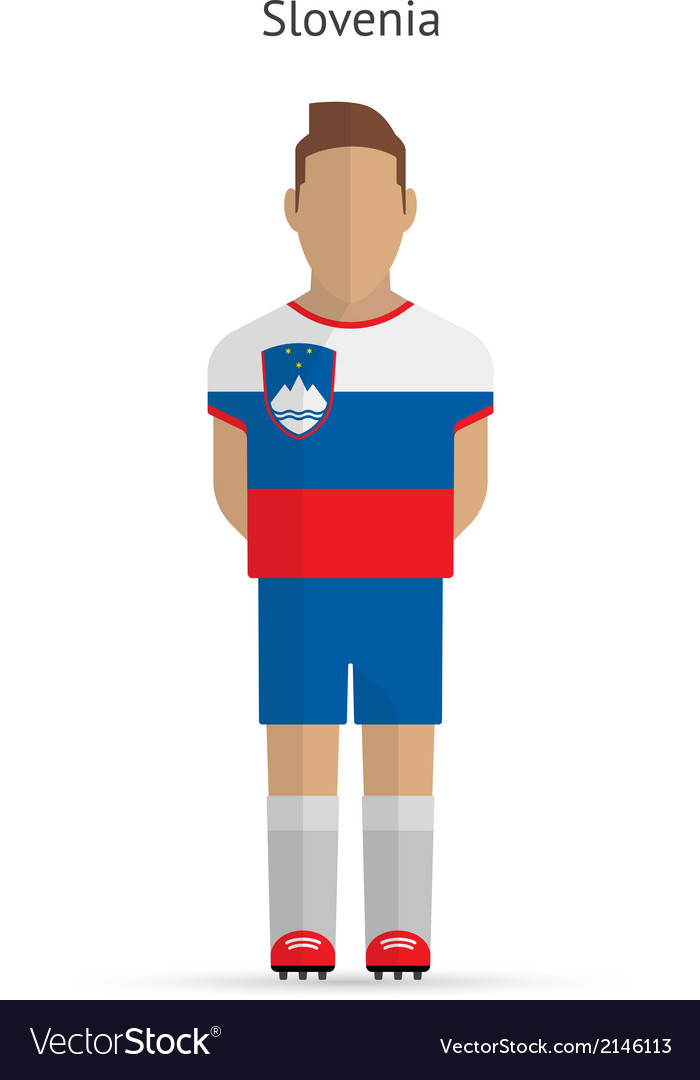 Slovenia football player soccer uniform vector | Price: 1 Credit (USD $1)