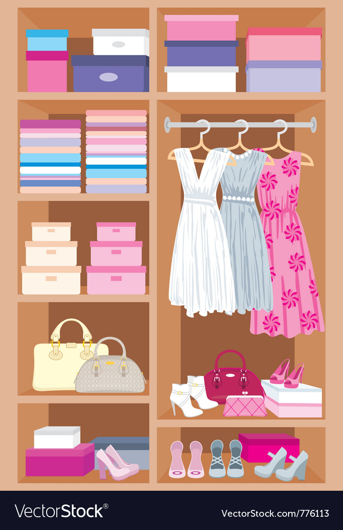 Wardrobe room vector