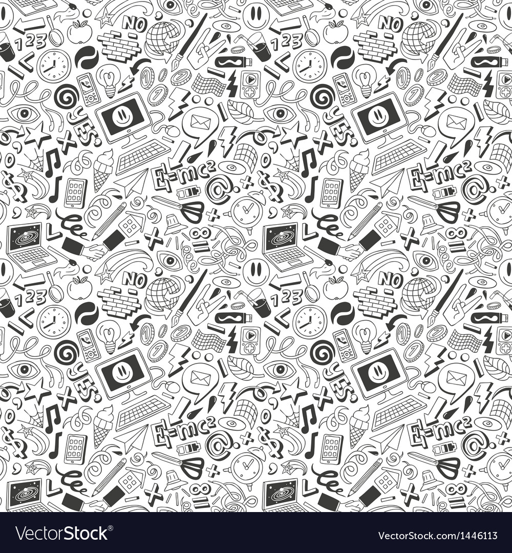 Web doodles seamless background vector   Price: 1 Credit (USD $1)