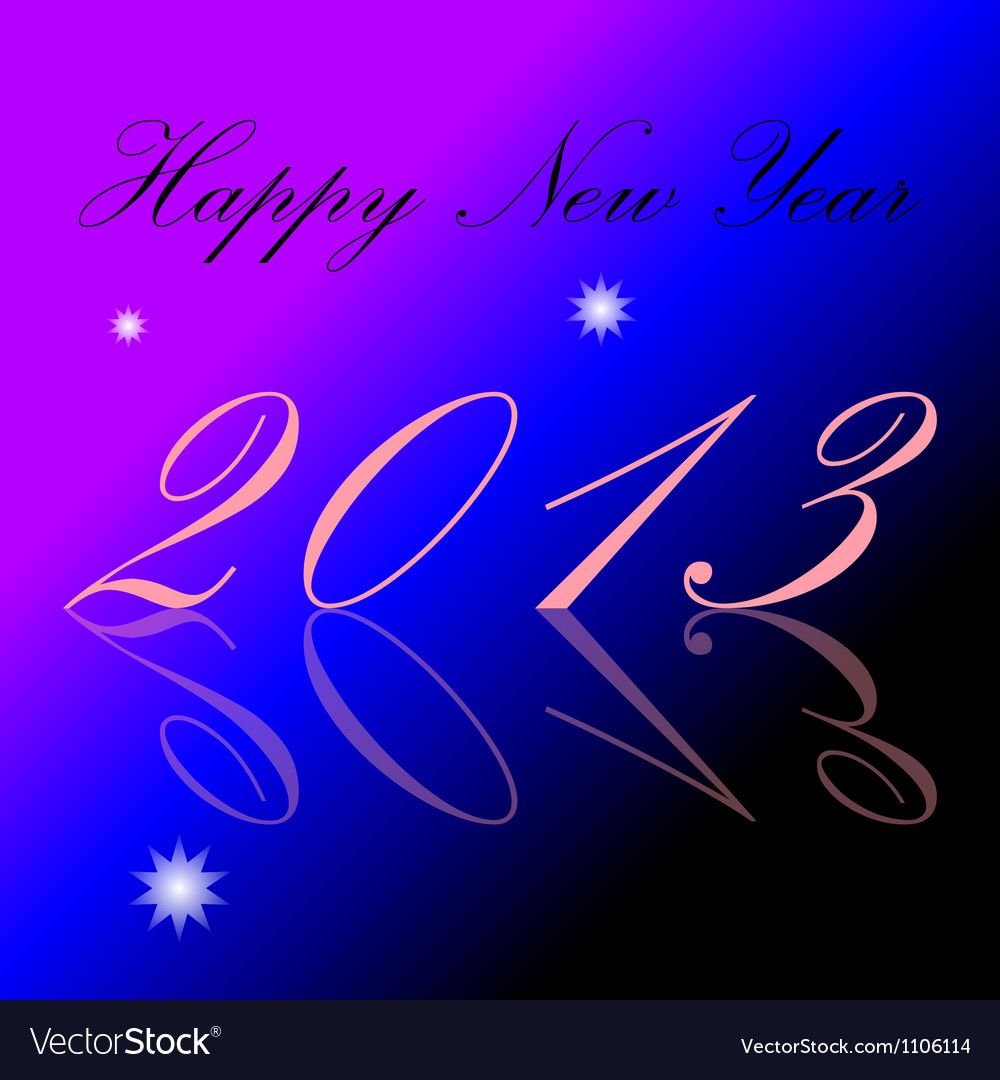 2013 happy new year background vector | Price: 1 Credit (USD $1)