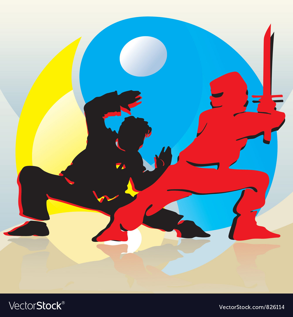 Asian fighters vector | Price: 1 Credit (USD $1)