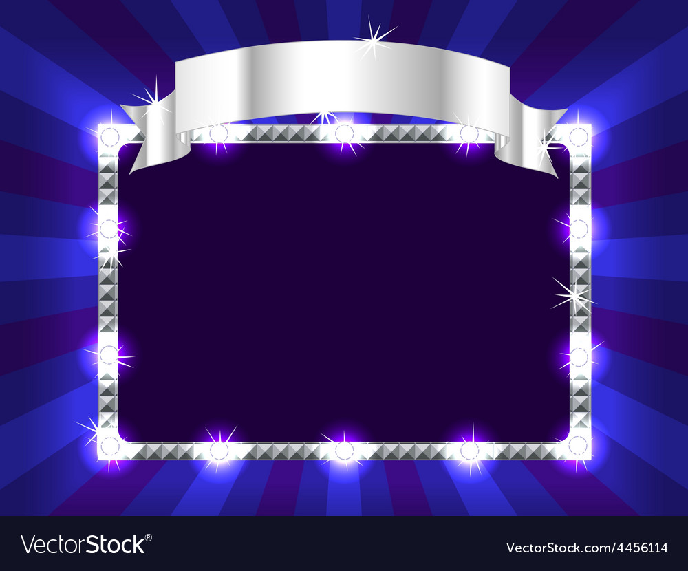 Billboard in blue vector | Price: 1 Credit (USD $1)