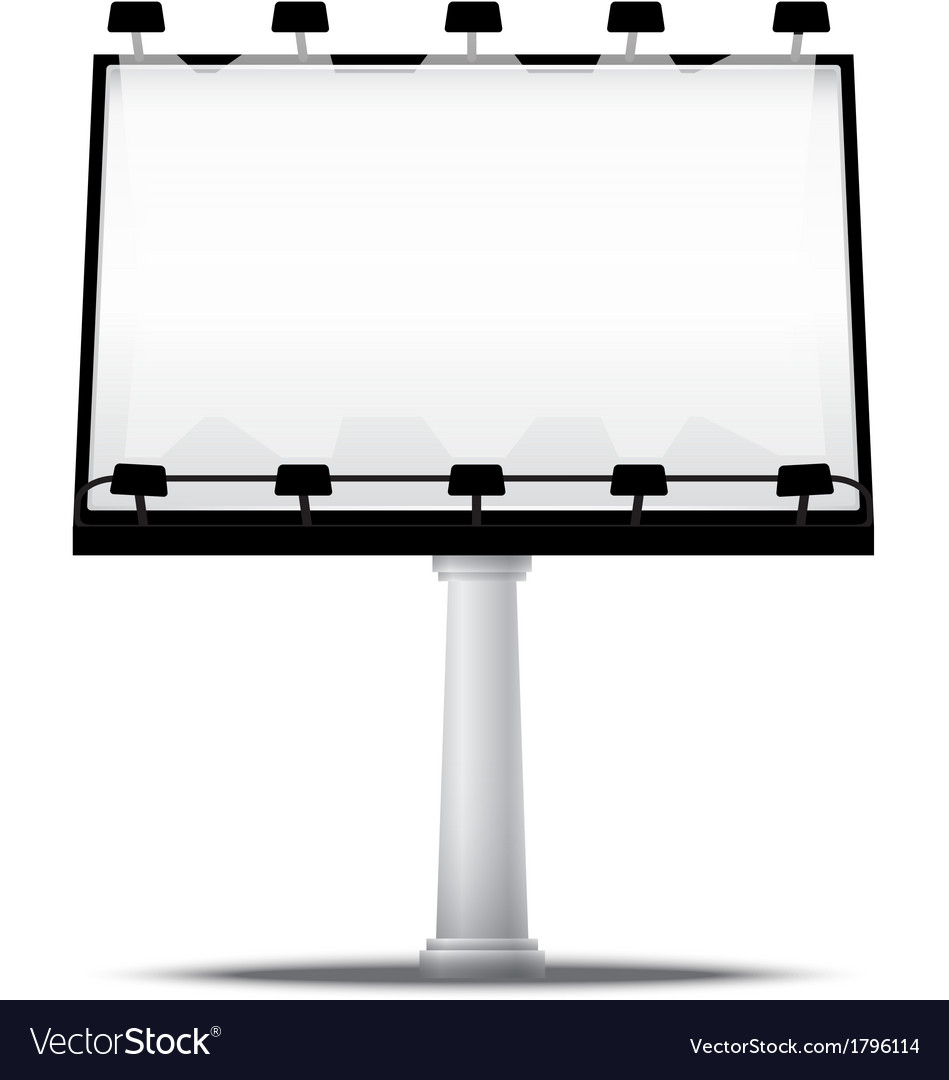 Blank street advertising billboard vector | Price: 1 Credit (USD $1)