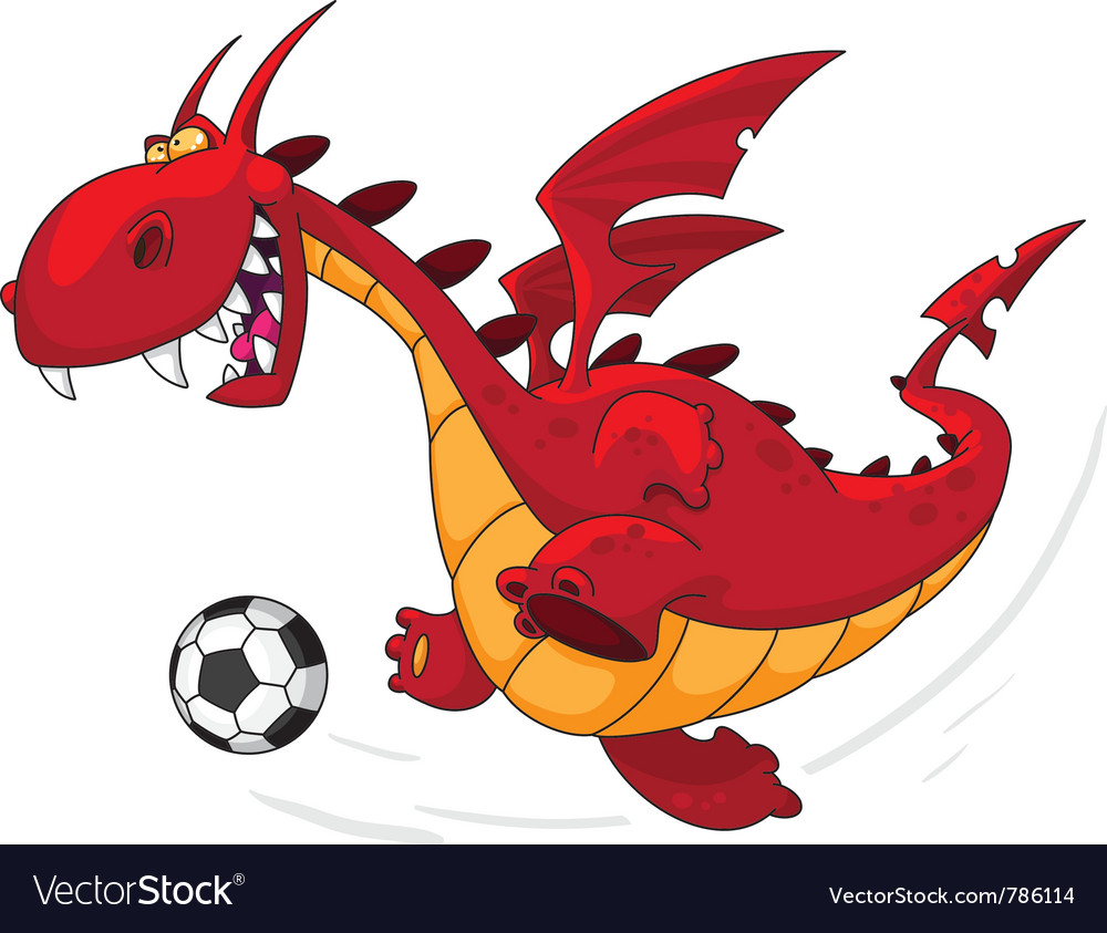Dragon footballer vector | Price: 1 Credit (USD $1)
