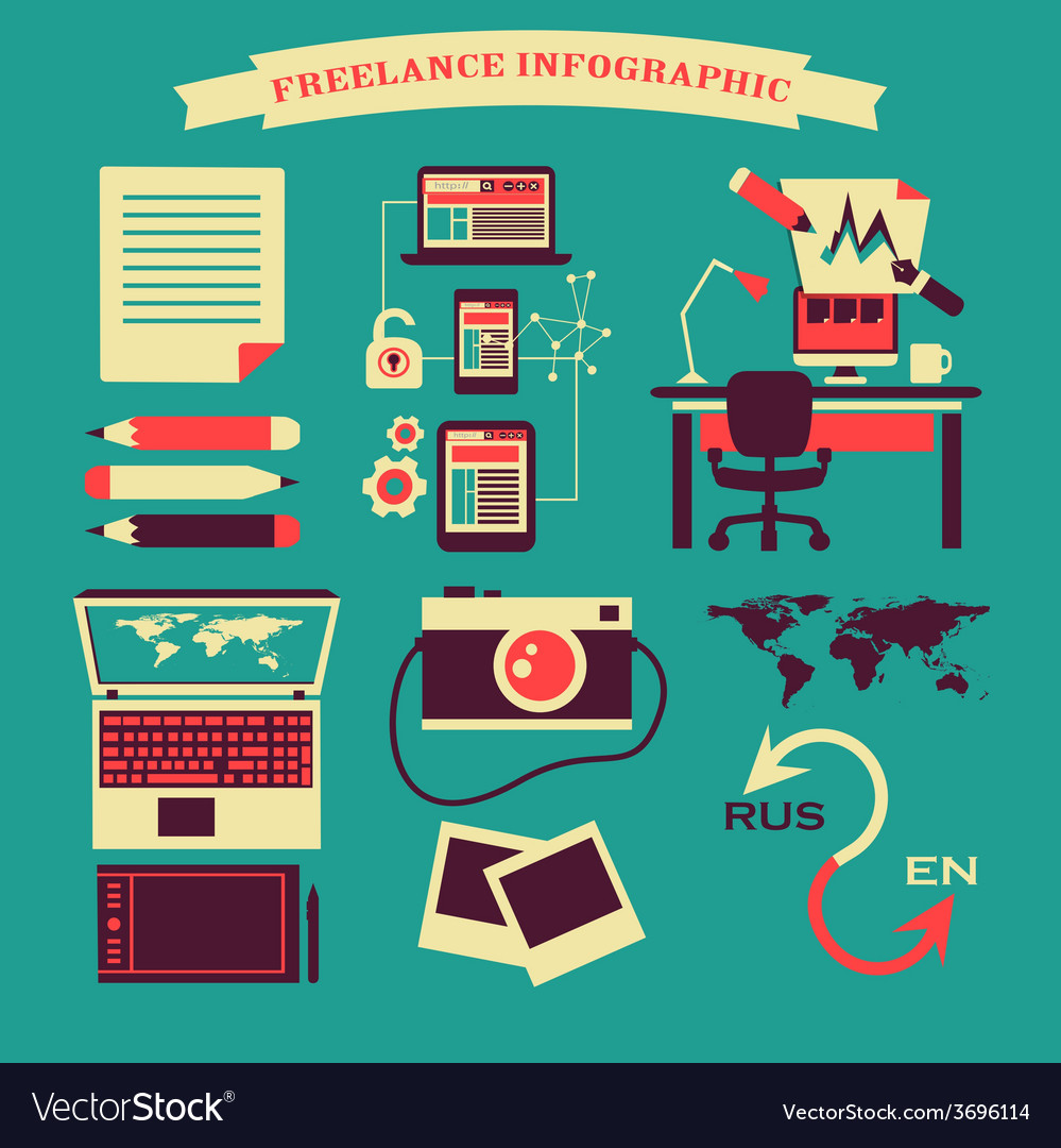 Freelance infographic vector | Price: 1 Credit (USD $1)