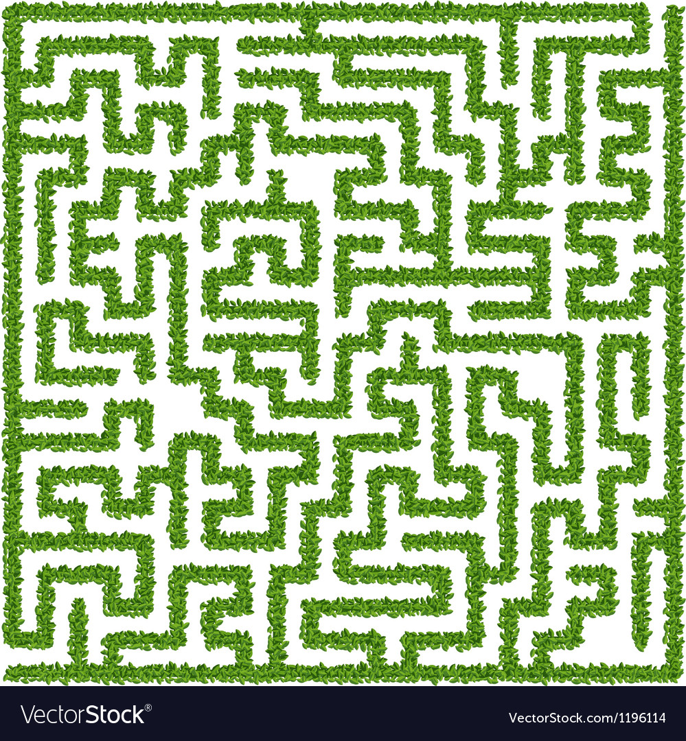 Maze from leaves vector | Price: 1 Credit (USD $1)