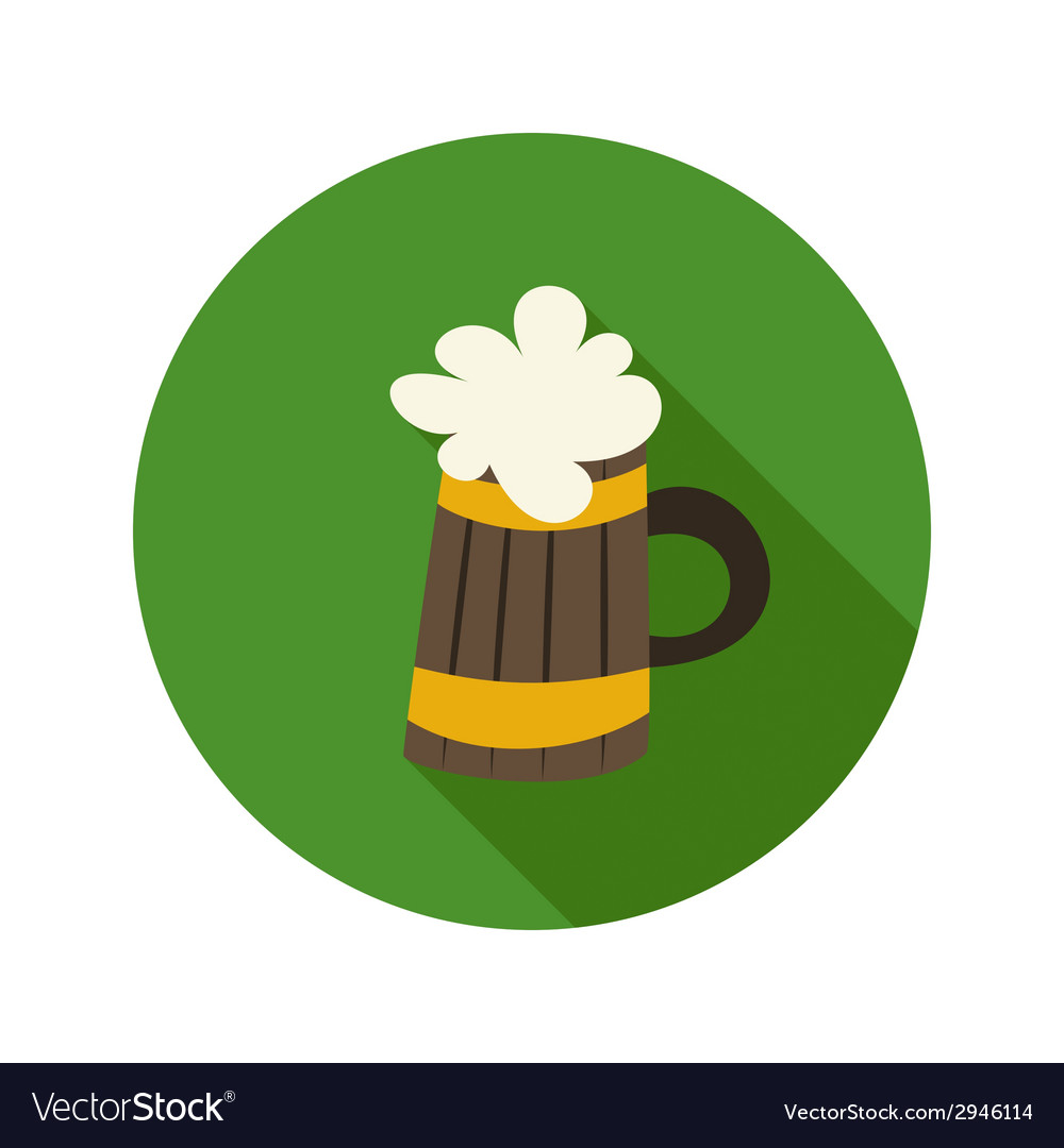 Oktoberfest beer mug circle green icon vector | Price: 1 Credit (USD $1)