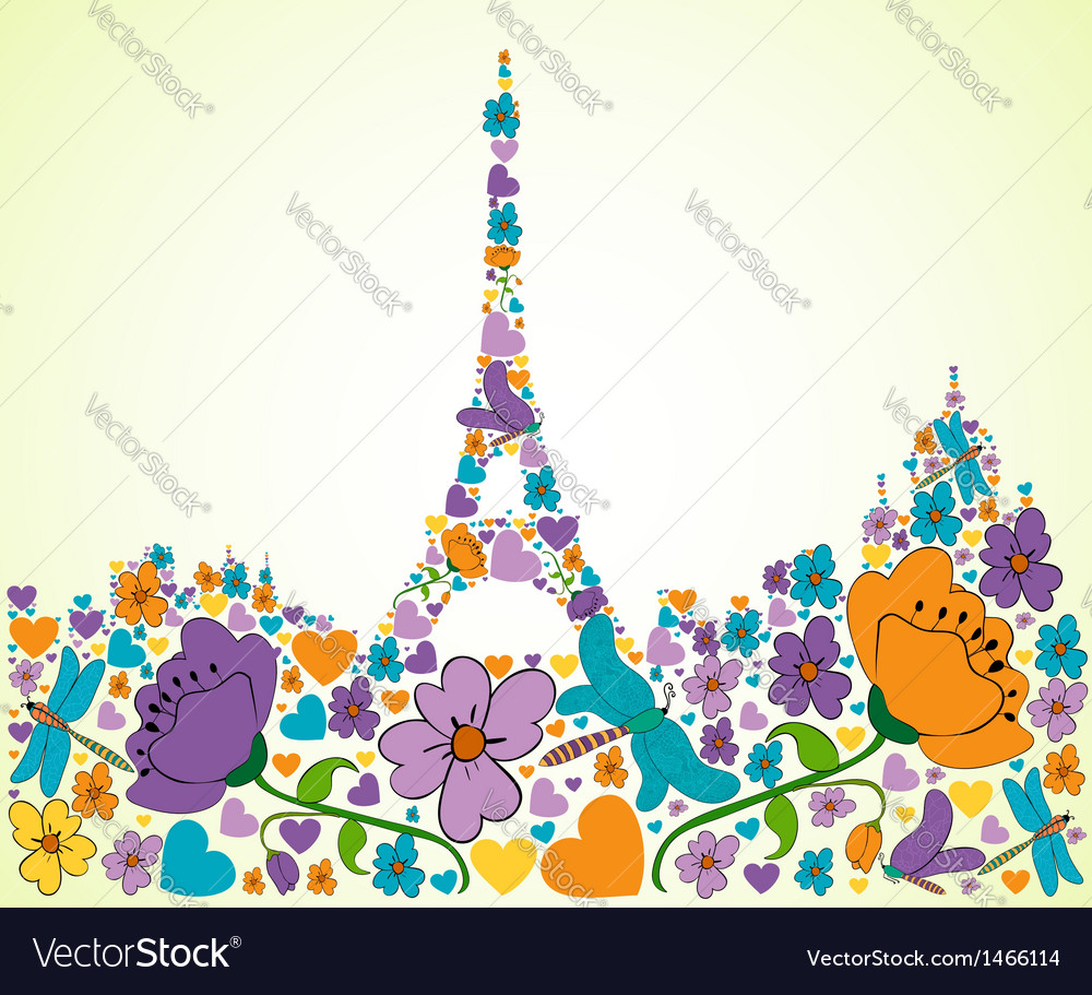 Springtime paris vector | Price: 1 Credit (USD $1)