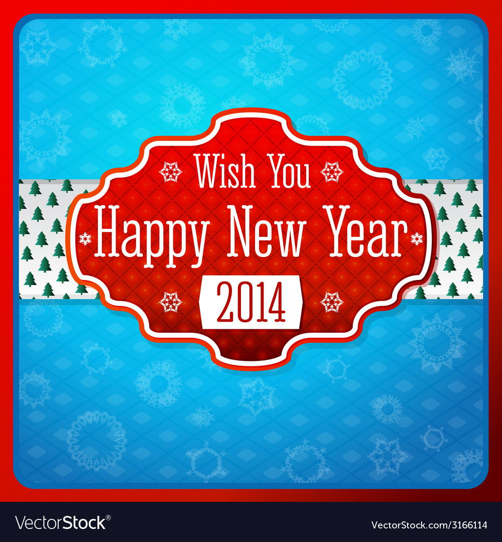 Vintage stylized red new year label texture on vector   Price: 1 Credit (USD $1)