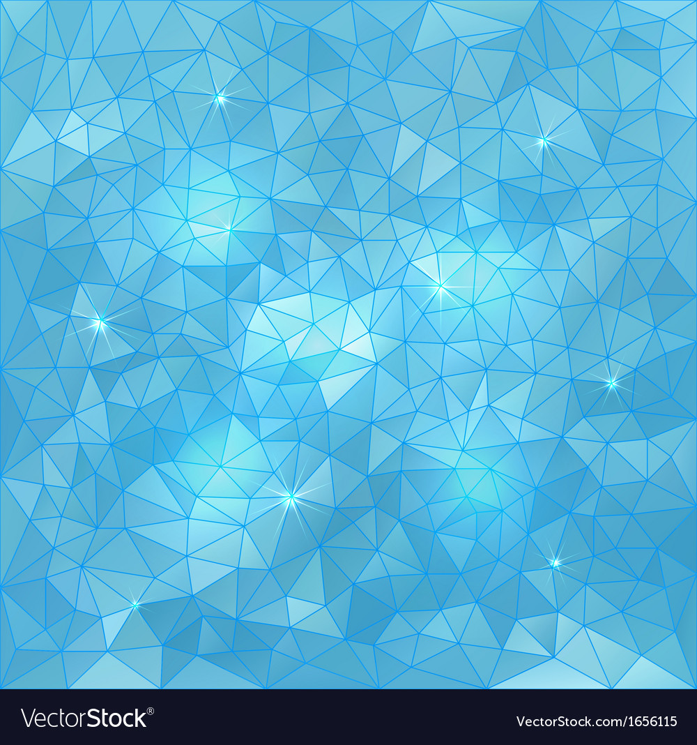 Abstract triangle water background vector | Price: 1 Credit (USD $1)