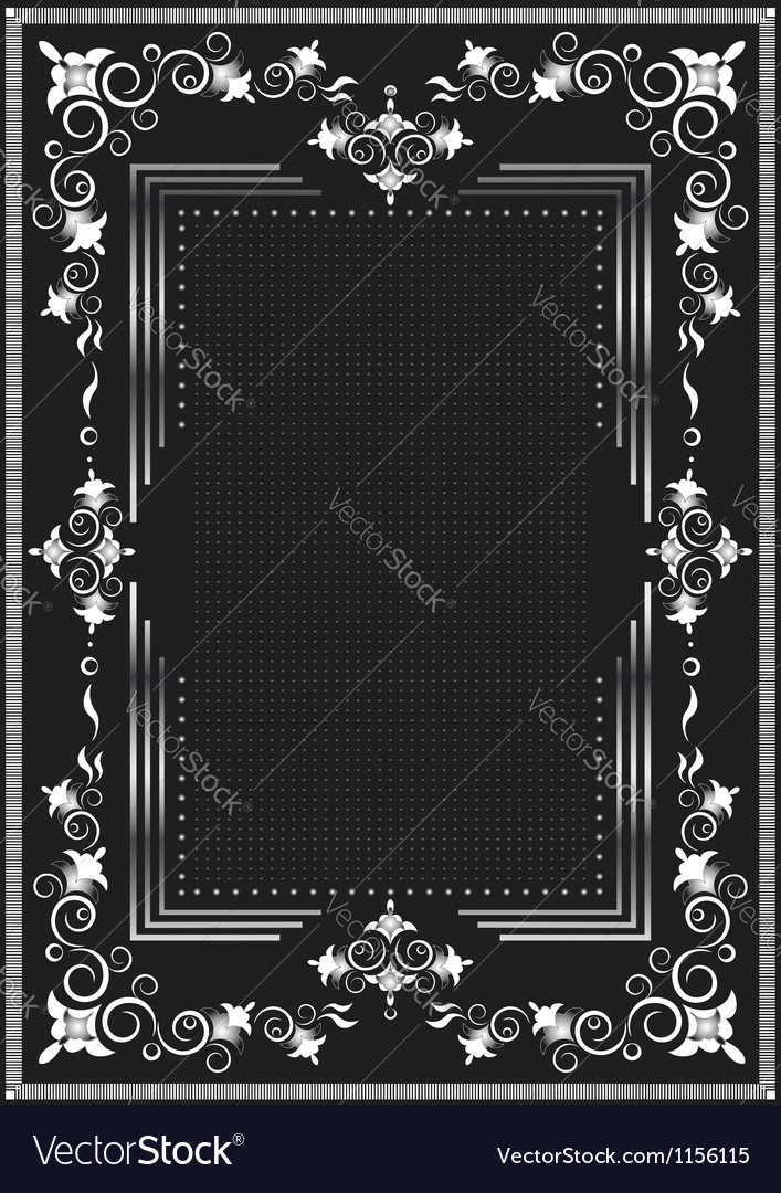 Decorative frame for silver decor vector | Price: 1 Credit (USD $1)