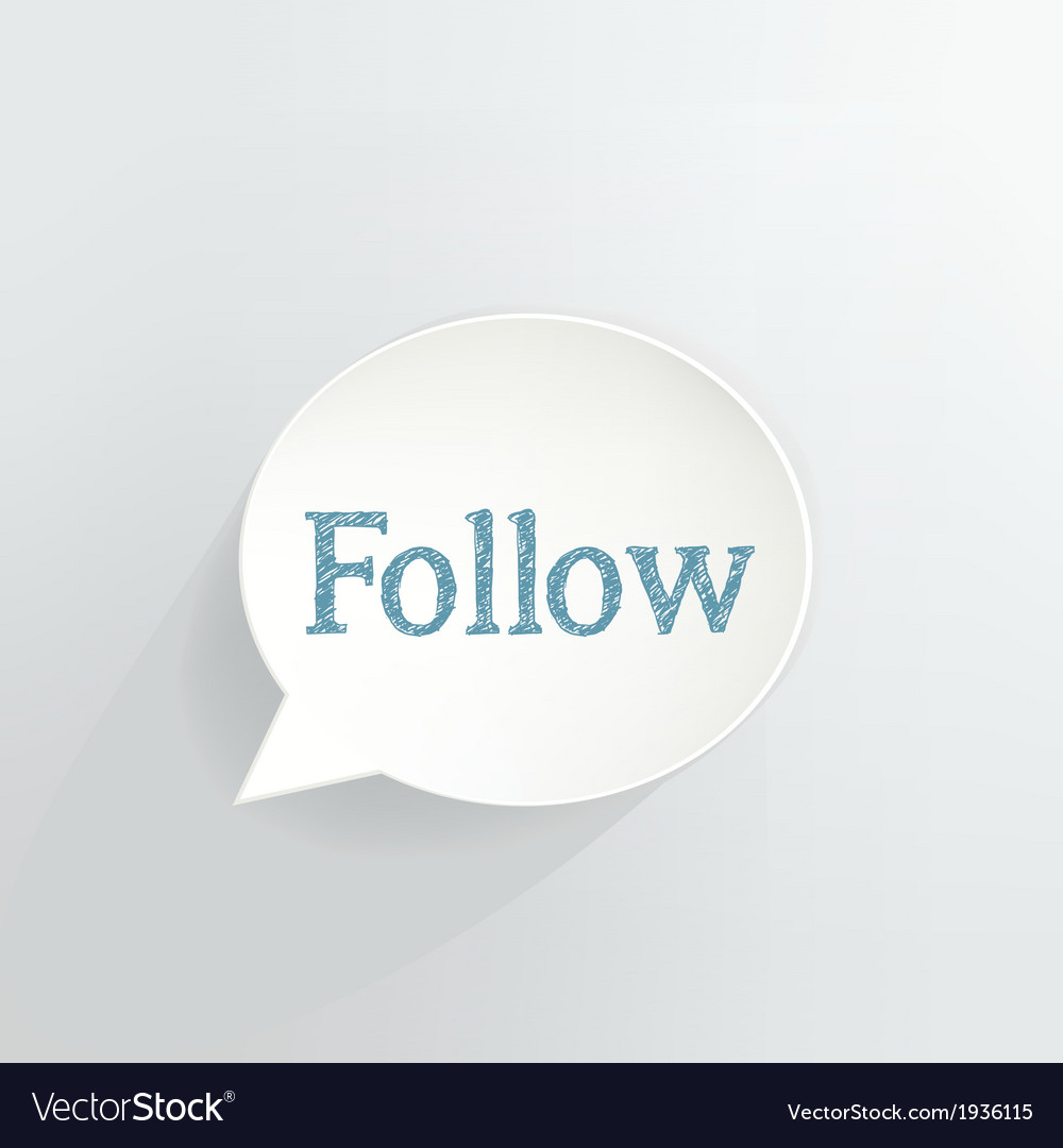Follow vector | Price: 1 Credit (USD $1)