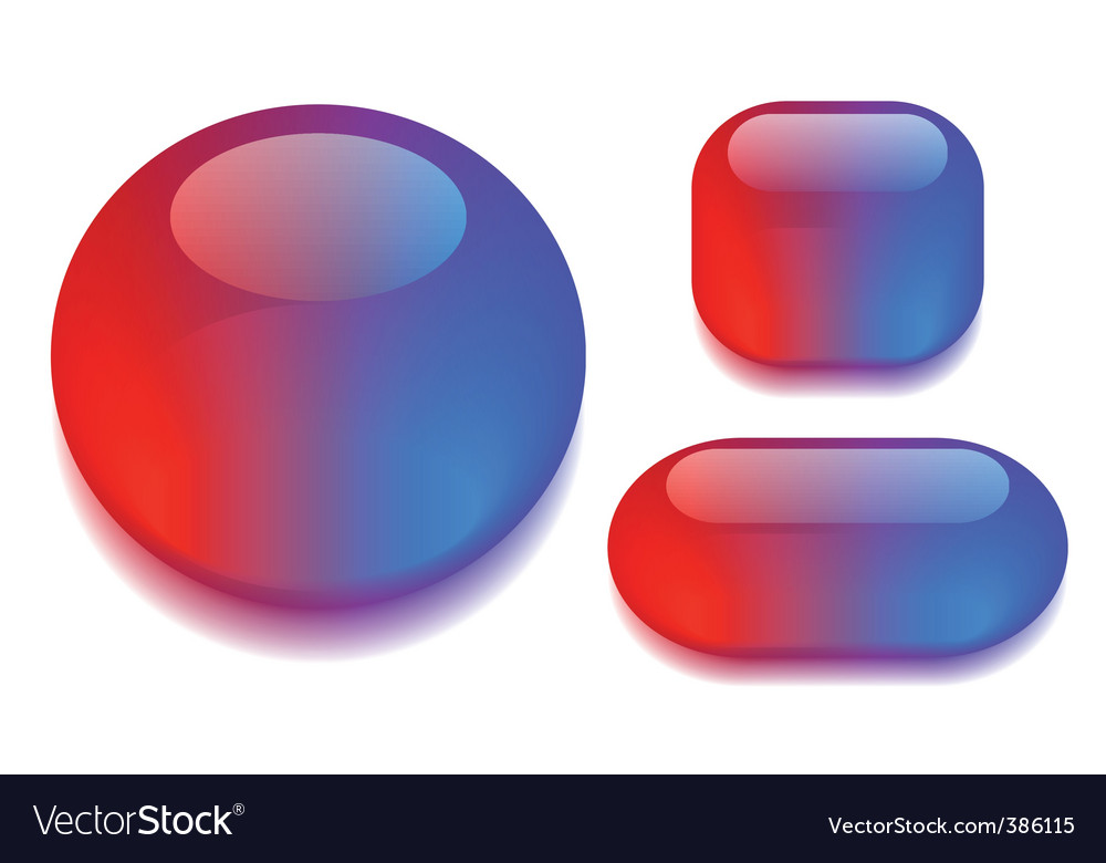 Glass button set vector | Price: 1 Credit (USD $1)