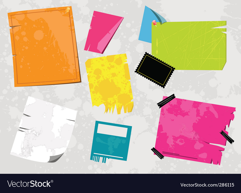 Grunge note paper vector | Price: 1 Credit (USD $1)