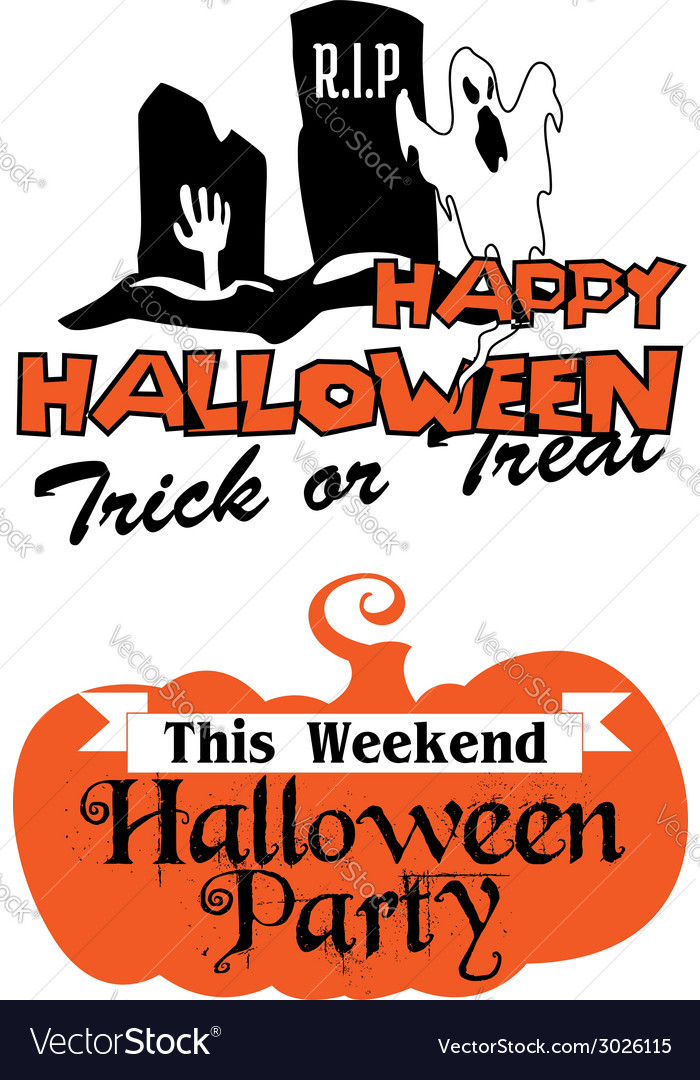 Halloween party poster and banner vector | Price: 1 Credit (USD $1)