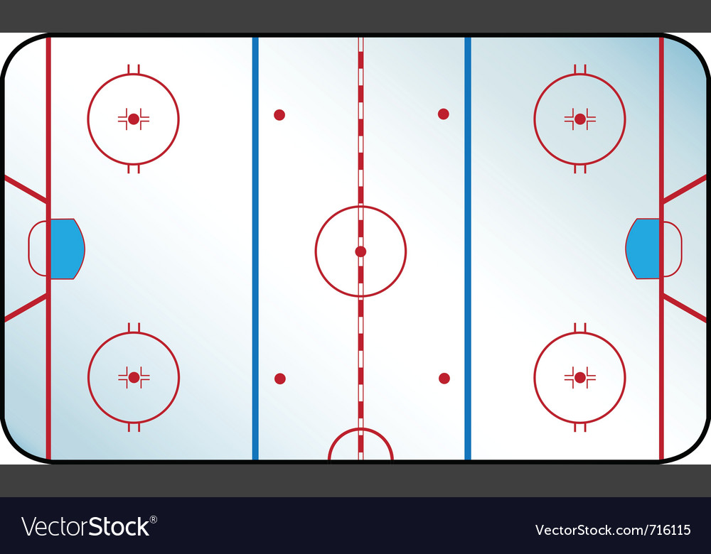 Hockey rink vector | Price: 1 Credit (USD $1)