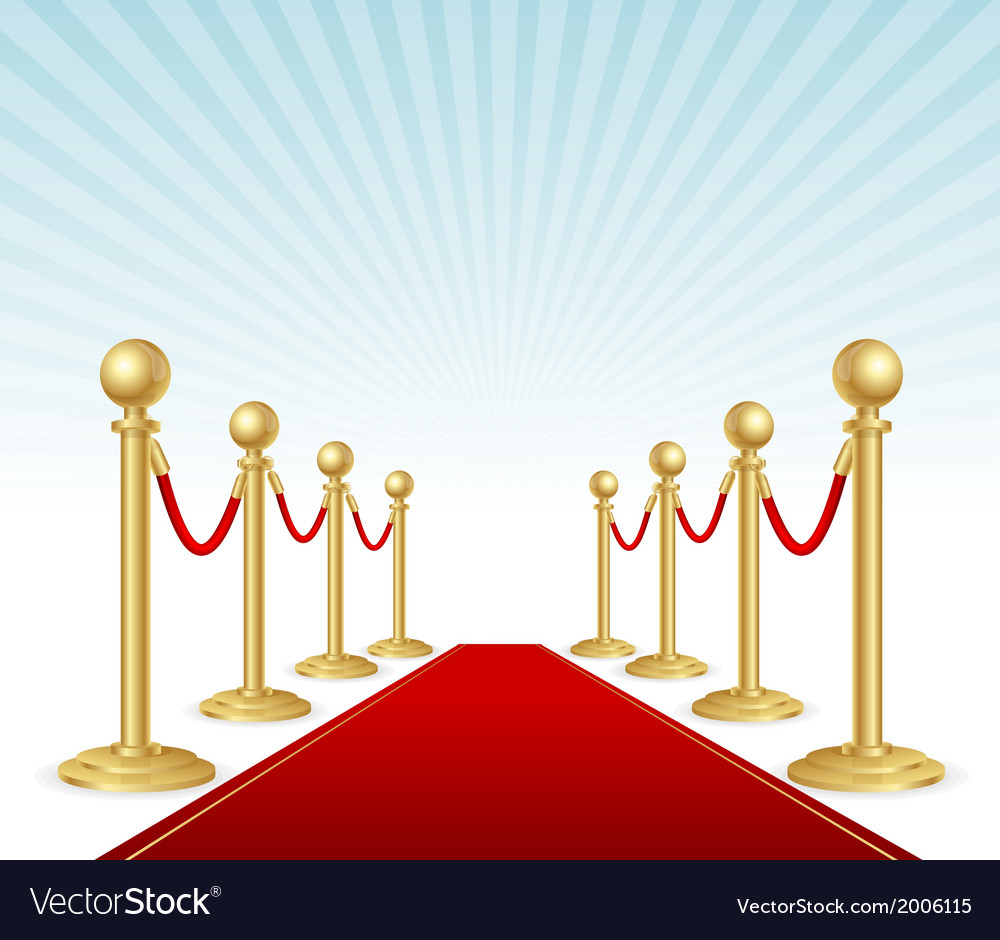 Red event carpet vector | Price: 1 Credit (USD $1)