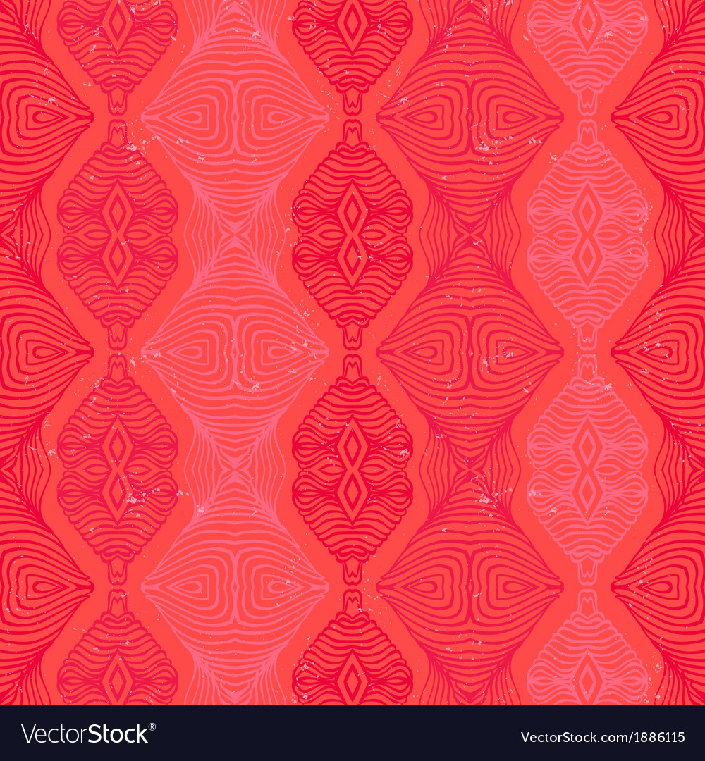 Retro pattern with linear shapes in vintage style vector | Price: 1 Credit (USD $1)