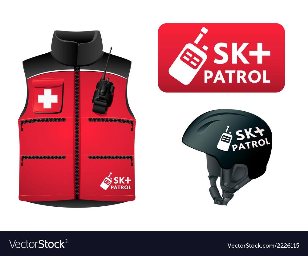 Ski patrol style vector | Price: 1 Credit (USD $1)