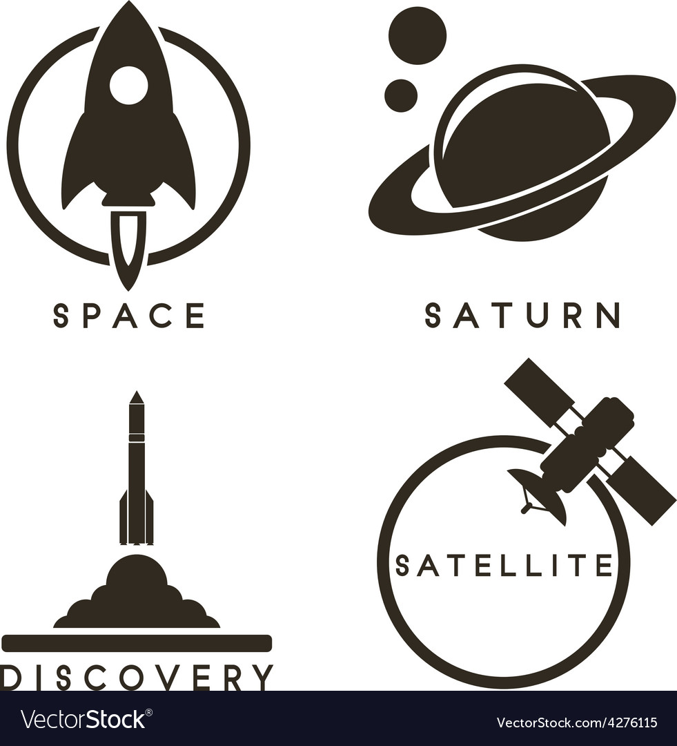 Space emblems vector