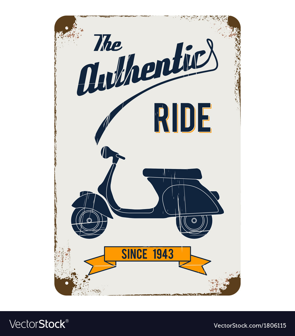 Vintage motorbike advertisement design vector | Price: 1 Credit (USD $1)