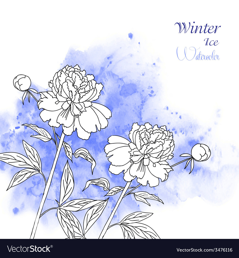 Background with watercolors and flowers-02 vector | Price: 1 Credit (USD $1)