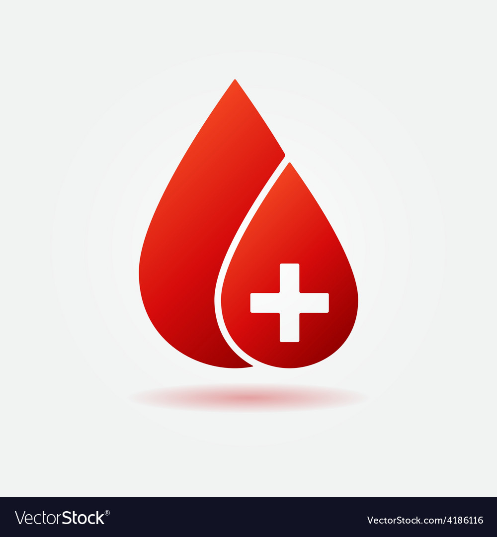 Blood drop concept logo or icon vector | Price: 1 Credit (USD $1)