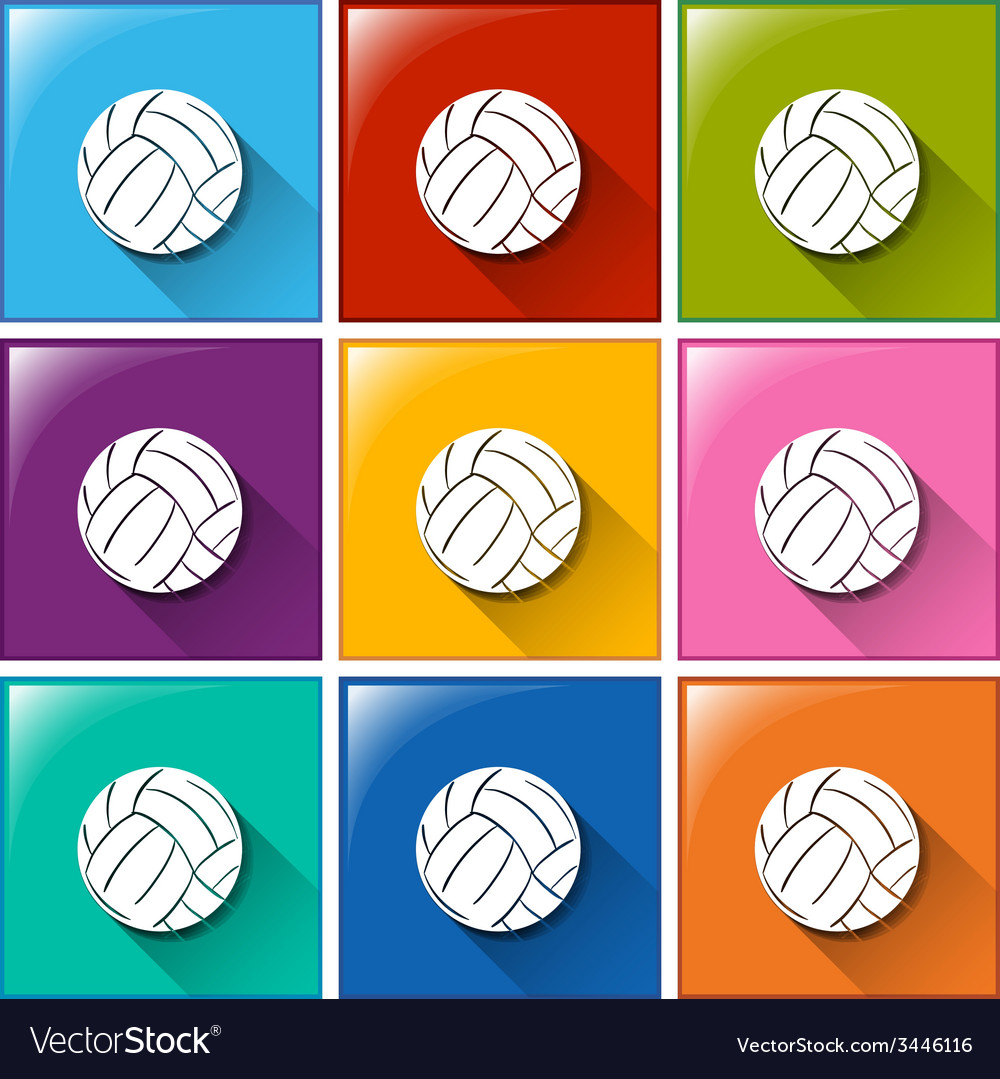 Buttons with soccer balls vector | Price: 1 Credit (USD $1)