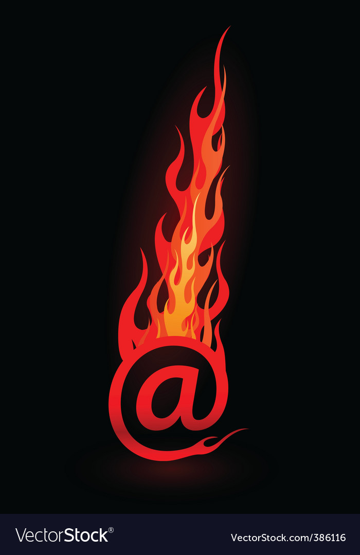 Email in flames vector   Price: 1 Credit (USD $1)