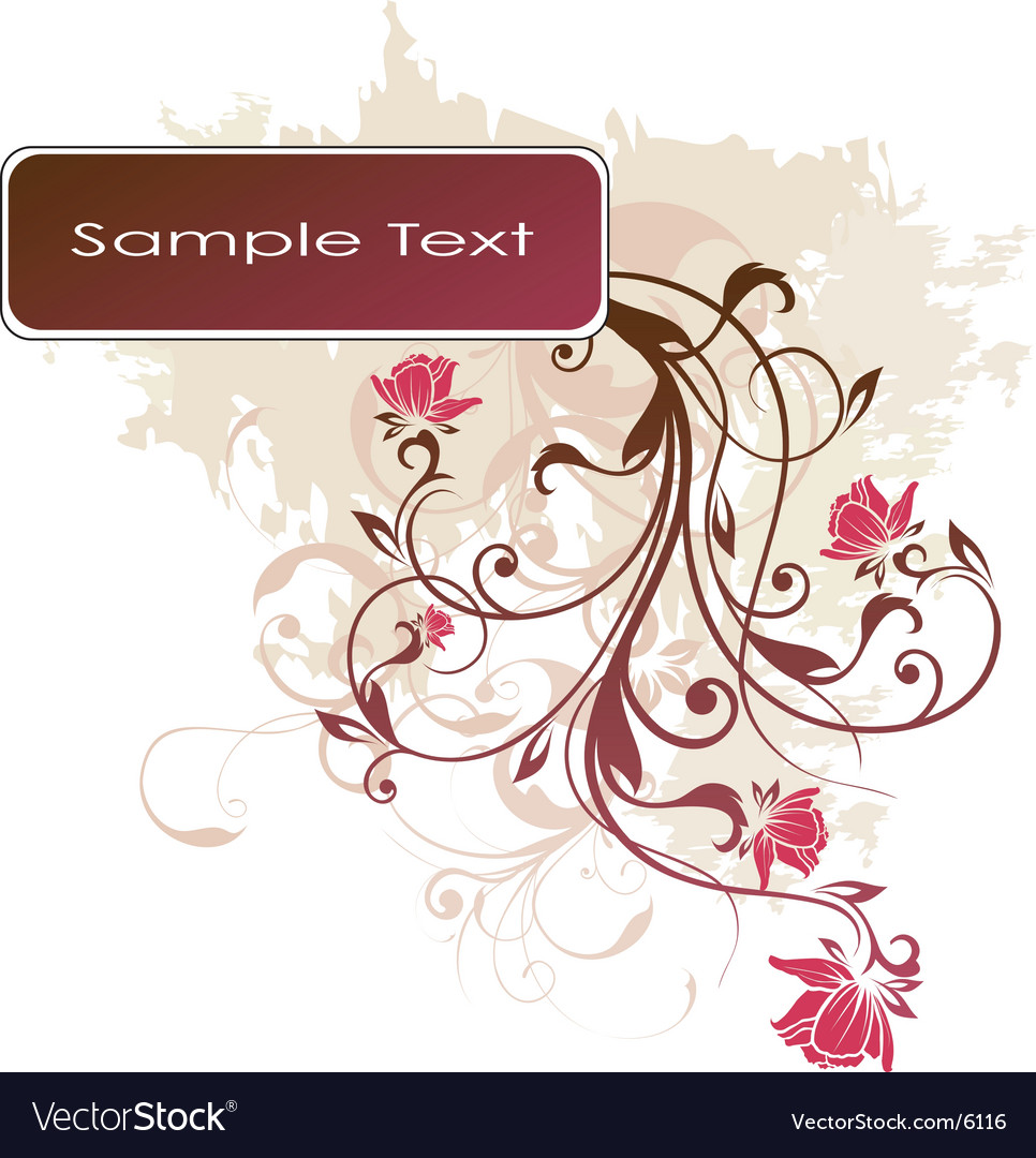 Floral banner design vector   Price: 1 Credit (USD $1)