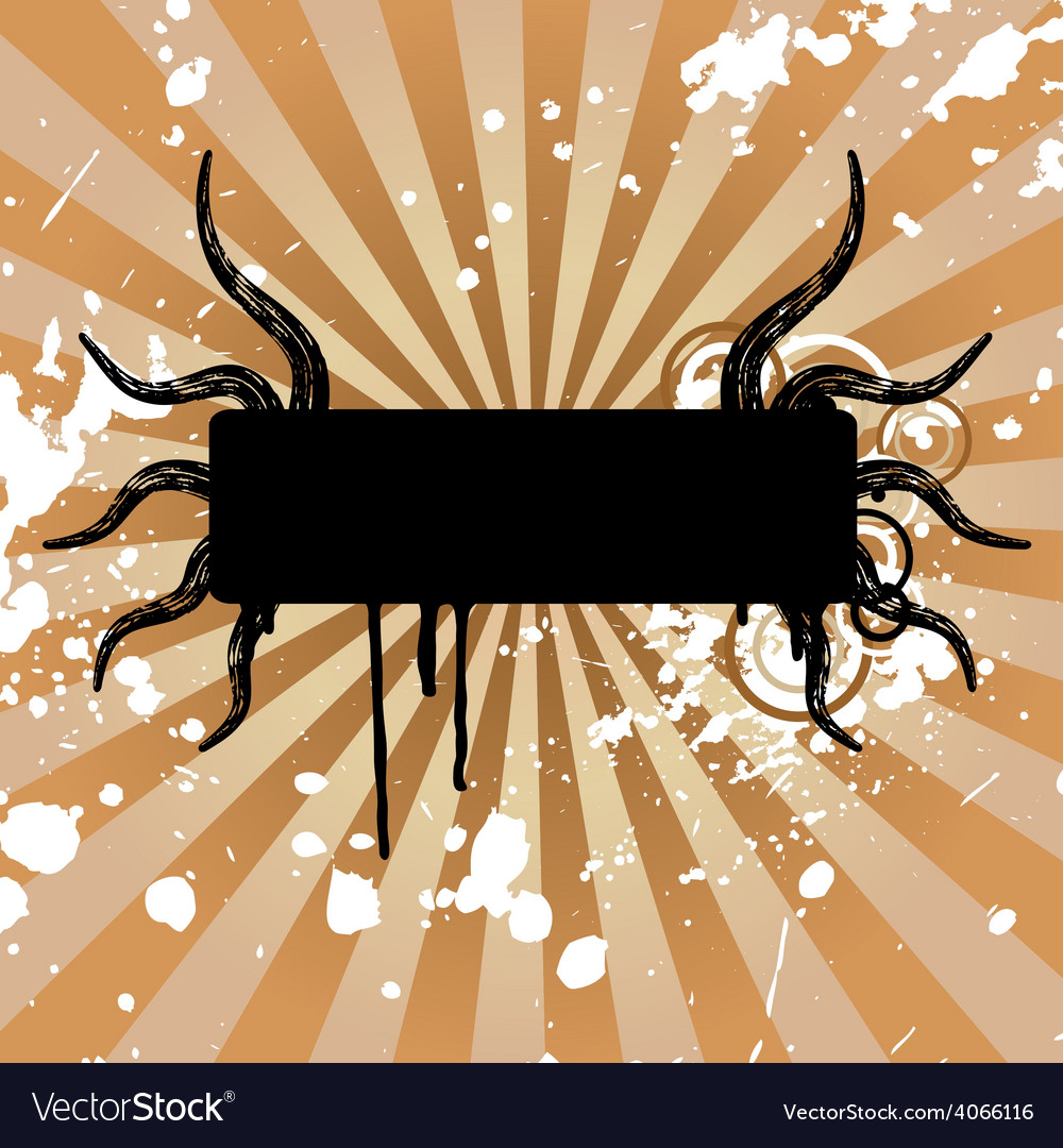 Grunge floral banner vector | Price: 1 Credit (USD $1)