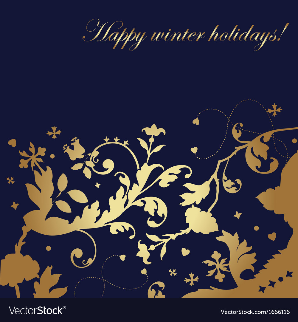 Happy winter holidays - card vector | Price: 1 Credit (USD $1)