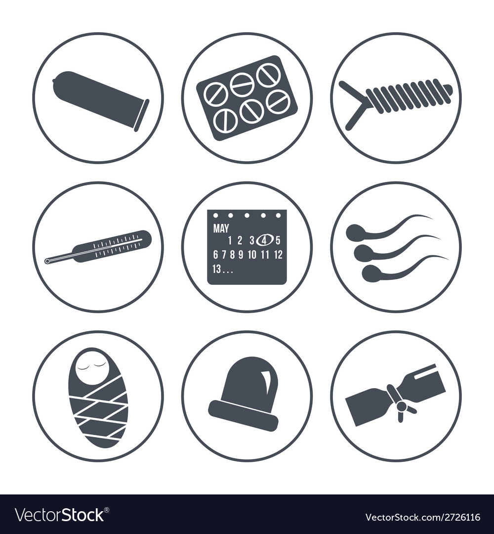 Icons methods of contraception vector | Price: 1 Credit (USD $1)